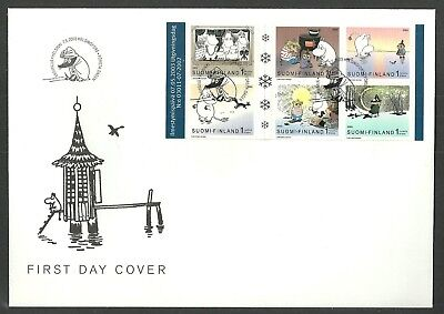 Finland 2003 Moomins Midwinter Moomintroll Squirrel Cartoons Animation Fdc