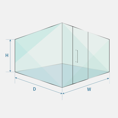 Single And Double Glazed Glass Partitions & Glass Door, Office Glass Partition