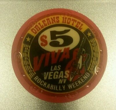 The Orleans Casino $5 Viva Las Vegas Rockabilly Weekend Poker Chip