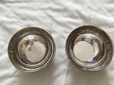Pair of Antique Sterling Silver Bowls - Thailand .925 Silver