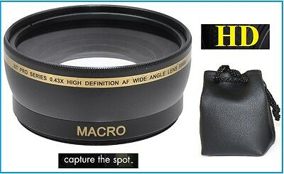 0.43x HD Wide Angle w/Macro Lens for Sony Alpha A5000 A5100 ILCE-5000 ILCE-5100