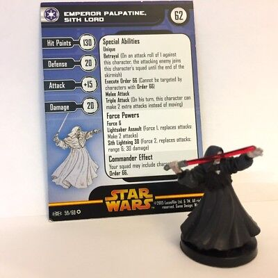 Star Wars Revenge of the Sith #59 Emperor Palpatine, Sith Lord (VR) Miniature