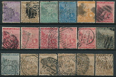 Cape Of Good Hope, Unchecked Lot Of 18 Different Classic Used Stamps.  #d1142