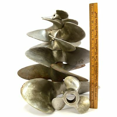 """Steampunk BULK LOT of 8 MIXED BOAT PROPELLERS 5""""-12"""" Aluminum & Stainless Steel"""