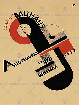 87123 EXHIBITION BAUHAUS WEIMAR ICON ADVERTISING Decor WALL PRINT POSTER UK