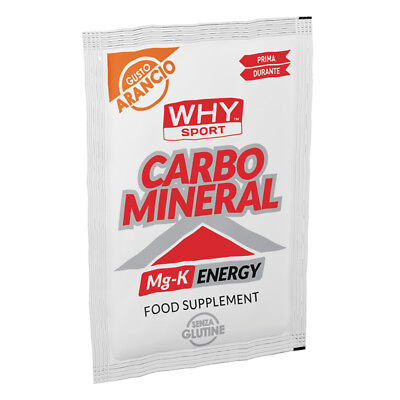 WHY SPORT CARBO MINERAL 20 GR Arancia