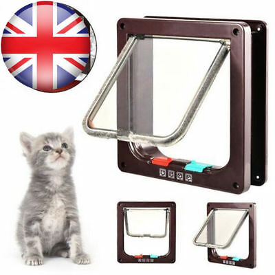 Dog Cat Mate 4 Way Locking Large Cat Small Dog Flap White Catflap Pet Door 221