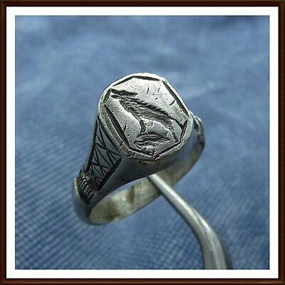 > Wrapping  Wolf < Legionary Ancient Roman Silver  Ring!!!!