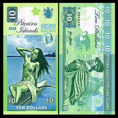Pitcairn Islands note 10 Dollars 2018 Private Issue Banknote - UNC uncirculated