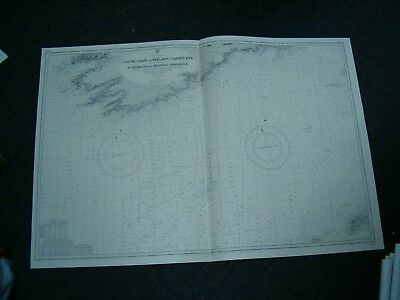 Vintage Admiralty Chart 1123 SOUTH COAST OF IRELAND to LAND'S END 1920 edn