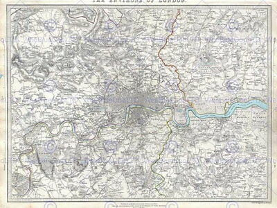 86744 GEOGRAPHY MAP ILLUSTRATED ANTIQUE SDUK LARGE Decor WALL PRINT POSTER AU