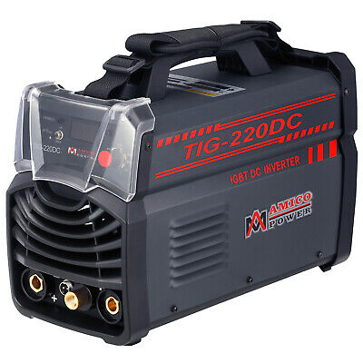 TIG-220DC, 220-Amp TIG-Torch, Stick ARC Inverter DC Welder, 110V & 220V Welding