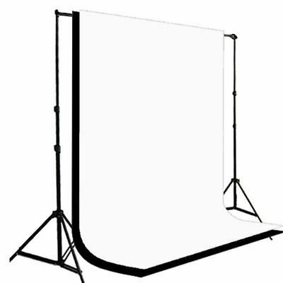 Black & White Backdrop Photo Background Support Stand Muslin Photography Kit