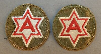 2 - WWII World War 2 U.S. Army 6th Field Army Alamo Force Used Patch (es) No Res