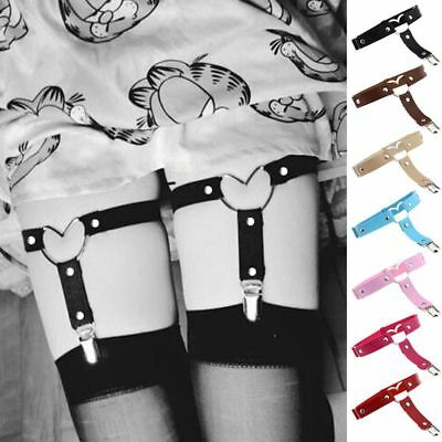 Women Thigh Harajuku Handmade Leather Heart Belt Goth Garter Punk Leg Ring
