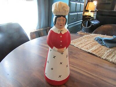 Vintage Hand Painted & Signed Mrs. Butterworth Syrup Bottle Kentucky Folk Art