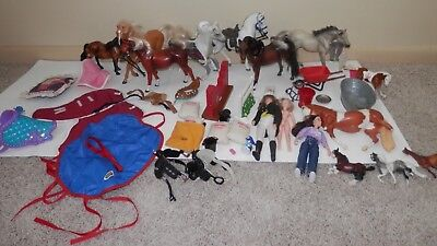BREYER lot of HORSES saddle feed people jump,blankets etc