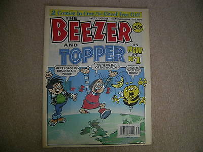 THE BEEZER & TOPPER Comic No 1, Sept 22nd 1990, UK Paper Comic-rare