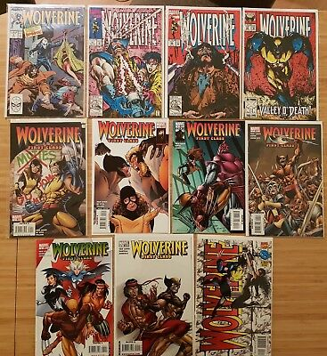 Lot 11 Comics VO Marvel Wolverine #4/61/66/67 + First Class #1-5/9 +X-Men deluxe