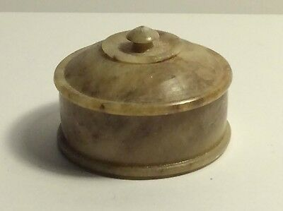 Chinese Hard stone Hetian Jade Scholars Pot & Lid SEE PICS date Unknown