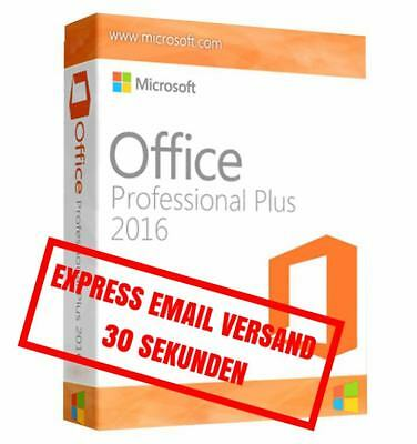 MS Microsoft Office 2016 Professional Plus / Vollversion Original Business / Pro