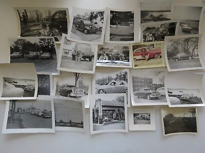 22 Vintage Photographs Lot Old Cars Snapshots Pictures Automobiles Photos #5946