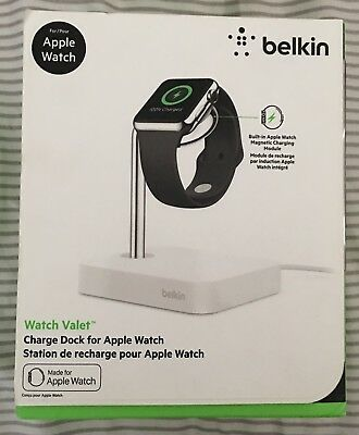 NEW Belkin Watch Valet Apple Watch Charge Dock Station - White