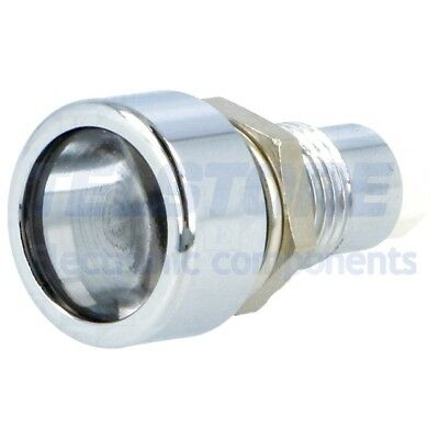 1pcs  Portaled per LED 5mm metallo convesso IP67 SIGNAL-CONSTRUCT