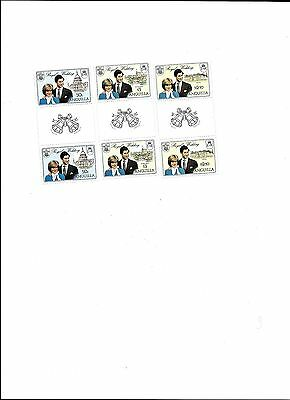 Anguilla Stamps #444-446 Guttered Pairs 1981 Royal wedding Lot 2