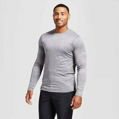 2b743206 C9 Champion Men's Long Sleeve Stripe Run Shirt Railroad Gray Heather - Pick  Size
