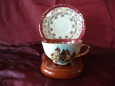 Schumann Arzberg Germany Cup and Saucer,Rothenburg