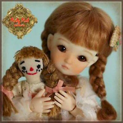 "Belinda !  Darling Jointed Doll In Motion ! 8"" Ten Ping Friend Ruby Bed"