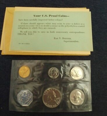 1960 U.S. Silver Mint Proof Set - 5 Coins Small Date - W/Original Packaging