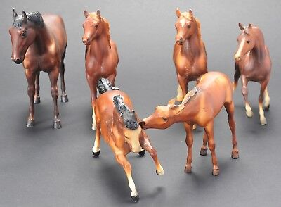 Breyer Molding Co Lot of 6 Horses Mixed Vintage Made USA