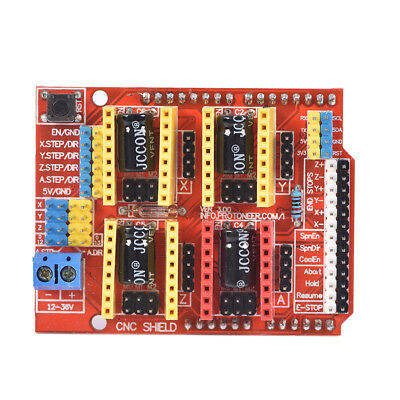 V3.0 Engraver CNC Shield+Board+A4988 Stepper Motor Drivers For UNO R3 Arduino FH