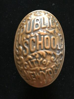 Antique Brass Public School City of New York Doorknob Door Knob