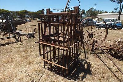 Wool press x 2 antique working ratcheted type.Shepparton vic area .