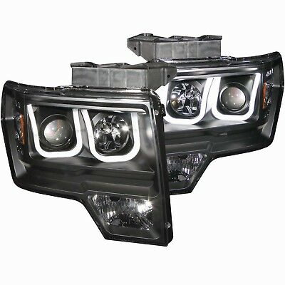 Headlight Assembly-Projector Clear Lens Black Anzo 111263 fits 09-14 Ford F-150