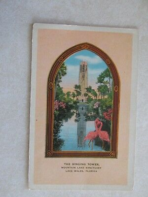 c593 Vintage postcard The Singing Tower Mountain Lake Lake Wells Florida FL