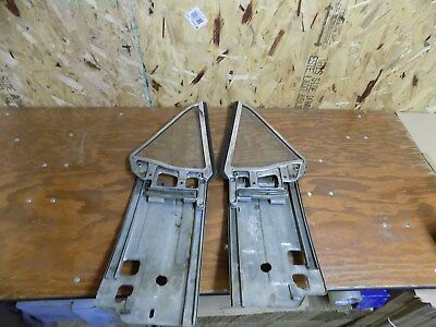 1967 ford mustang rear quarter windows complete with tracks glass chrome trim 68