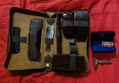 US Army soldier shaving personal grooming soap kit and GEM razor set lot