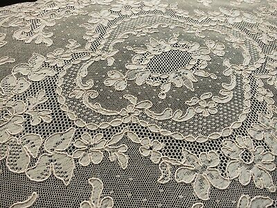 PRETTY FLOWERS Set 8 Placemats Antique FRENCH ALENCON LACE Wedding Ecru