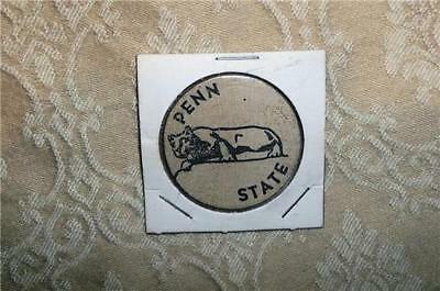 1968 Souvenir Wood Wooden Nickel Penn State College Pensylvania Coin Medal Token