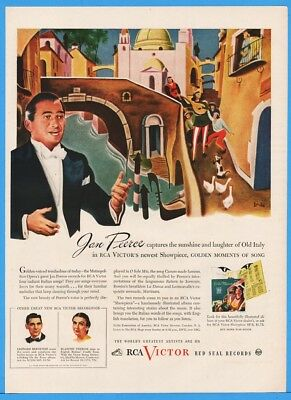 1945 RCA Victor Red Seal Records John Peerce Golden Moments Of Song Italy Ad