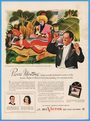 1945 RCA Victor Red Seal Records Arabian Nights Pierre Monteux Conducts Print Ad