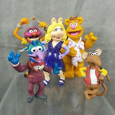 Disney Store The Muppets Movie Toy Figure Playset Lot Of 5 Fozzie Animal Gonzo