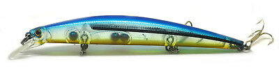 Largemouth Bass Pike Fishing Bait Stick Lure Pencil Minnow Blue NEW