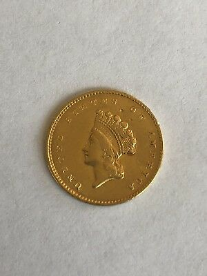 1855 $1 Indian Head Princess Gold Coin Type II Gem PQ