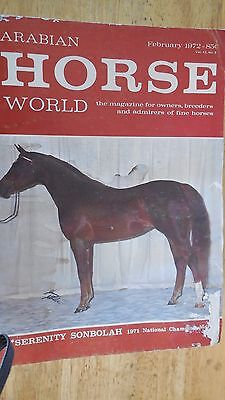 ARABIAN HORSE WORLD COLLECTION OF  4 Magazines---FROM 1972-1973