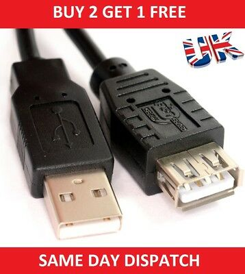 5m 3m 1m Long USB 2.0 EXTENSION Cable Lead A Male To A Female SHIELDED
